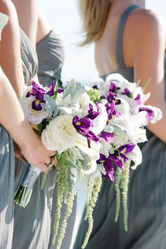 A touch of purple in the bouquet