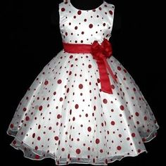 Christmas Red Flower Girls Dress Sz Y African Dresses For Kids, Dresses Kids Girl, Kids Outfits, Kids Dress Wear, Kids Gown, Baby Girl Dress Patterns, Baby Dress Design, Red Flower Girl Dresses, Little Girl Dresses