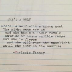 She's a wolf. Gypsy Chronicles no. 49