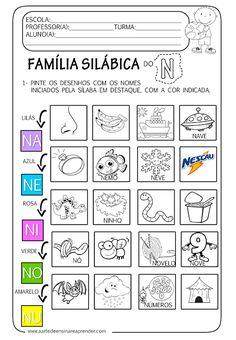 A Arte de Ensinar e Aprender: Atividades família silábica