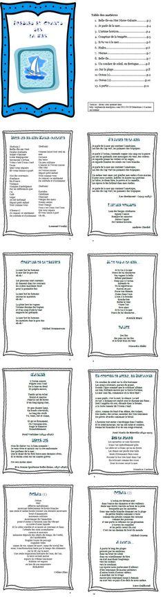 Un recueil de poèmes sur la mer