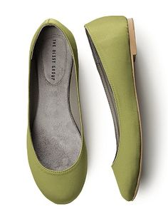 Simple Satin Ballet Flat  #wedding #shoes