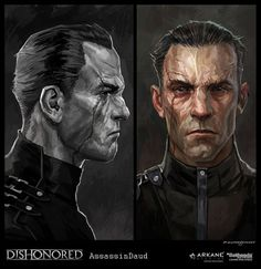 the Knife of Dunwall, a concept art for Daud from Dishonored by Cedric Peyravernay Fantasy Portraits, Character Portraits, Game Art, Cyberpunk, Concept Art Landscape, Dishonored 2, World Of Darkness, Game Concept Art, Fantasy Male
