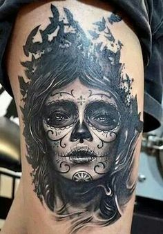1000 images about catrina on pinterest la catrina day of the dead and tattoos and body art - Santa muerte tatouage signification ...