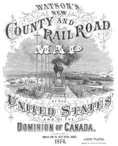 Watson's New County & Railroad Map