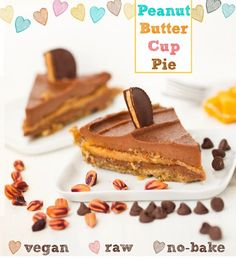 Peanut butter cup raw pie