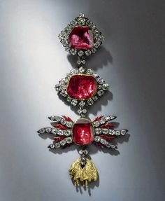 Scala Regia Inspirational Archives: Ruby and diamond insignia of the order of the Gold...