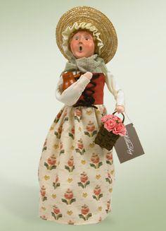 """Colonial Spring Woman w/ Bird Bottle"""