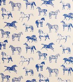 Horse wallpaper | Hästtapeten Collette har fått sitt namn efter en av våra kunder på Irland som förutom att hon är en mycket väl renommerad inredare även föder upp hästar.