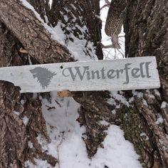 Winterfell Wooden Directional Sign - A Game of Thornes House Stark. $19.00, via Etsy.