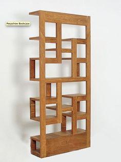 Peekabooshelf  Love the design--geometric art and bookcase in one