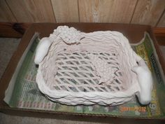 A clay sculpted basket I made a while back.  Deana Tankersley