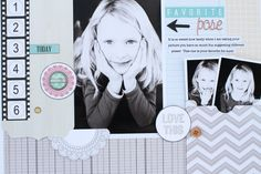 TERESA COLLINS DESIGN TEAM: Favorite Pose layout by Jamie Harder using the New Memories collection