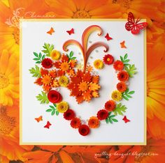 Quilling - a bouquet: loopy quilling