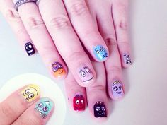 Barbapapa nails from #instagram