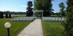 Ceremony Area facing The Rideau River Our Wedding, Wedding Venues, Sidewalk, River, Face, Wedding Reception Venues, Wedding Places, Walkways, The Face