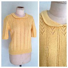 70s Melon Stripe Knit  Vintage Pastel Seafoam Green Striped Cardigan Belted Half Sleeve Womens Groovy Retro Gradient Ombre Sorbet Sweater