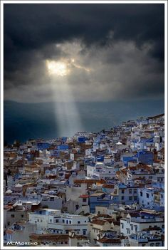 Chefchaoun (The blue town) on a cloudy day...