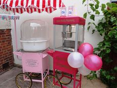 Candy floss and popcorn machines
