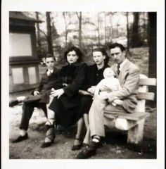 YOUNG Elvis & Gladys with Hubert and Tina Tipton who were neighbors and friends of the Presley family in Tupelo-1935-1953.