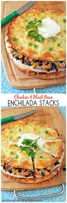 Chicken Enchilada Stacks - The lazy girl's way of getting enchiladas in her mouth! cinnamonspiceandeverythingnice.com