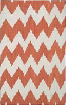 Wild-Chev-Saffron-3626-850 -- Chevron flatweave wool rug in pretty copper by Genevieve Gorder. Casual, transitional, global inspiration.