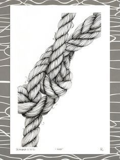 "Original Illustration, ""moor,"" nautical knotted rope, mooring lines. Brianna Reagan"
