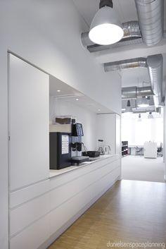 Kitchenette - AON's office interior design in Copenhagen - by Danielsen Spaceplanning