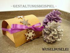 24 kleine Schachteln, Adventskalender, Braun von Wuselduselei auf DaWanda.com