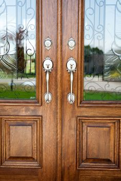 Beautiful Traditional Style On Double Entry Doors.
