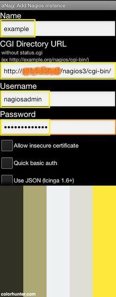 nagio mobile alert anag instance config color scheme