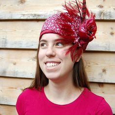 Pillbox Hat | Burgundy Asymmetrical Pillbox Turban hat | Flickr - Photo Sharing!