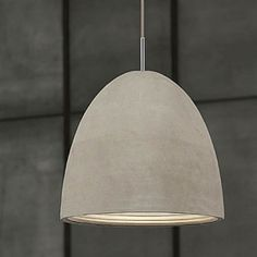 Concrete Dome Pendant Light in Large; The beautiful textured cast concrete of the shade paired with the natural colouring of the shade forms an effortless aesthetic statement.
