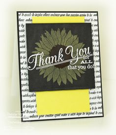 Grand Greetings; Collage Backgrounds; Splendid Sunflower; Triangle Screen Die-namics; Pierced Square STAX Die-namics - Debbie Carriere