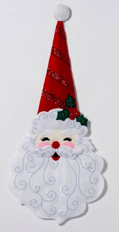 Sewing Craft Colray Crafts Home: OnLine Shopping for Cross-Stitch, Needlepoint and Felt Applique Sewing Kits Santa Crafts, Christmas Ornaments To Make, Felt Ornaments, Felt Crafts, Christmas Diy, Ornament Crafts, Felt Decorations, Christmas Table Decorations, Sewing Kits