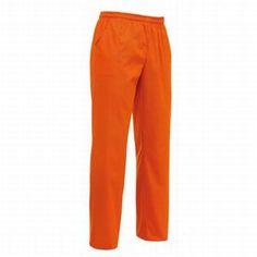 Pantalone Orange con coulisse. Tessuto 35% cotone, 65% poliestere. Disponibile nel colore ARANCIONE