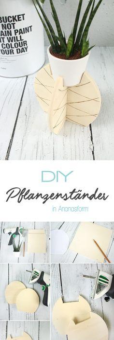 Dani vom DIY Blog Gingered Things zeigt dir wie du aus Holz einen kreativen Pflanzständer in Ananasform basteln kannst. Auch eine tolle GEschenkidee.