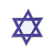 PinMart's Blue and White Jewish Star of David Enamel Lapel Pin: Star of David lapel pin. Die Struck Silver Plated with Blue & White enamel filling. Includes a butterfly clutch back and is individually poly bagged. Rhinestone Wedding, Crystal Rhinestone, Israeli Flag, Hand Of The King, Flag Lapel Pins, Women's Brooches, Metal Pins, Star Of David, White Enamel