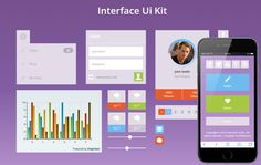 Bootstrap responsive flat interface UI kit free web template