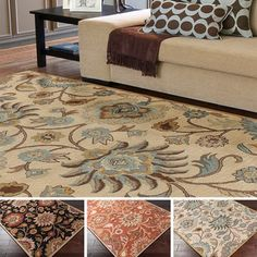 Hand-tufted Alameda Traditional Floral Wool Rug (8' x 10') | Overstock.com Shopping - The Best Deals on 7x9 - 10x14 Rugs