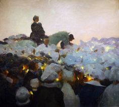 gaston la touche 1896 . I've seen this painting up close and personal. Ethereal. Fabulous.