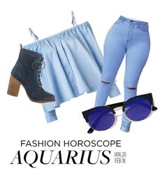 """Aquarius"" by laniemay on Polyvore featuring Sandy Liang, LULUS, Steve Madden, fashionhoroscope and stylehoroscope"