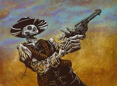 The skeleton sheriff rules the wild western town with two pistols and a hidden ace of spades. Painting ProcessThe 36...