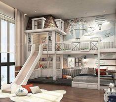 Cool Kids Bedrooms, Kids Bedroom Designs, Room Design Bedroom, Room Ideas Bedroom, Home Room Design, Awesome Bedrooms, Bed Designs, Tiny Bedrooms, Kids Rooms