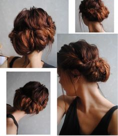 this + a hairpiece/roses/little peony buds/baby's breath/lavander = yup. wedding hair.