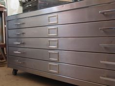 SALE - Refurbished Industrial Flat File Coffee Table / Upcycled Vintage Flat File Cabinet by Cabinet @Luvocracy |