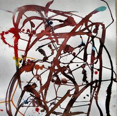 Marc del Moynes Abstrait mixed media par MarieArtCollection sur Etsy