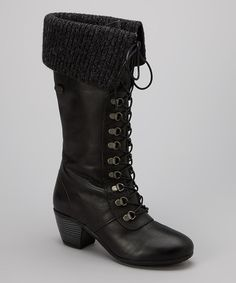 Another great find on #zulily! Eric Michael by Laurevan Black Finland Leather Boot by Eric Michael by Laurevan #zulilyfinds