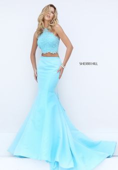Beautiful light blue Sherri Hill