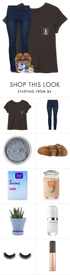 """of course it didn't last ; it never does"" by theblonde07 ❤ liked on Polyvore featuring RVCA, SkinCare, Birkenstock, Clean & Clear, Yankee Candle, Chive, Marc Jacobs and Tocca"